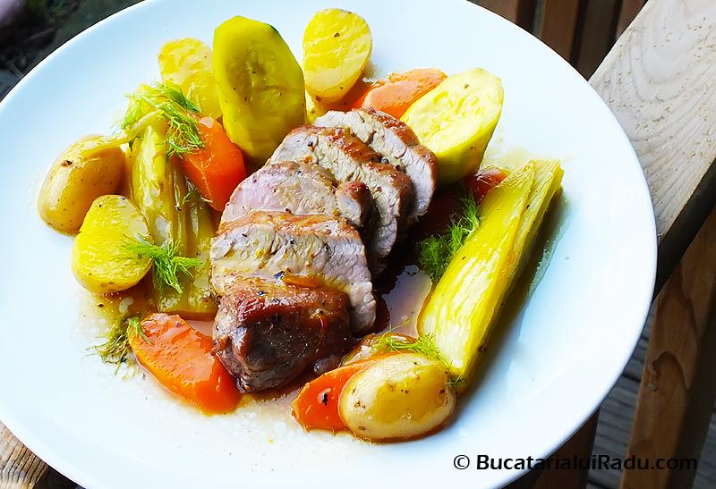 file de porc legume