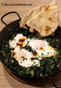 reteta culinara oua cu spanac