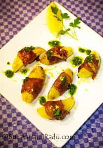 cartofi bacon