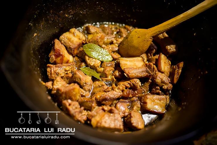 carne fripta la ceaun 4