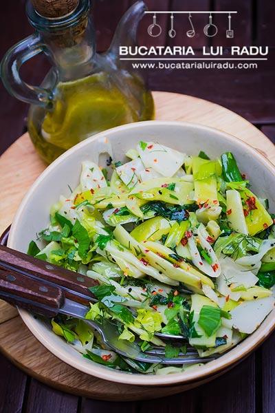 salata de fasole verde cu telina