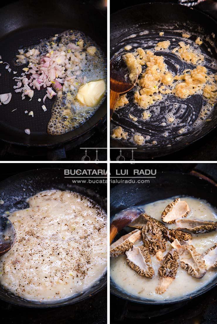 ciuperci cu sos de vin zbarciogi preparare