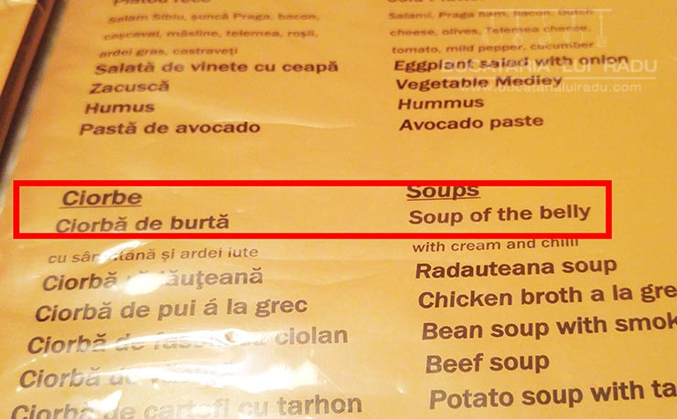 la bucatarul vesel soup of the belly