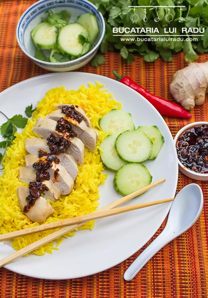 pui malaezian cu orez si ardei iute