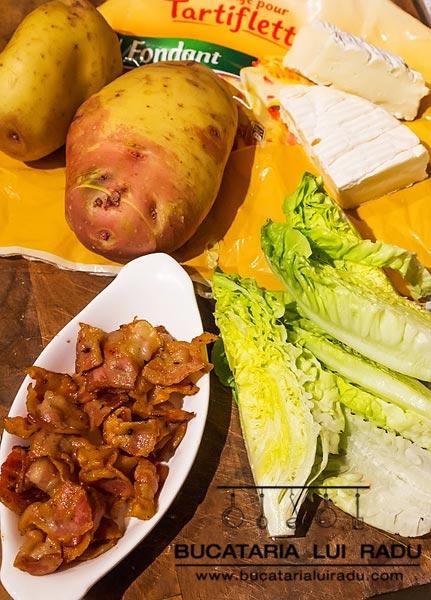 Tartiflette cartofi Hasselbald ingrediente