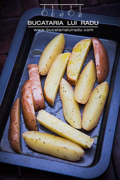 cartofi crocanti la cuptor pregatire