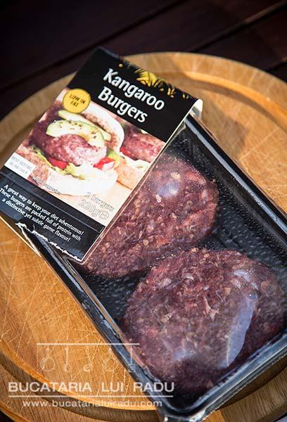 hamburger din carne de cangur ingrediente