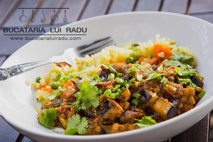 curry de vinete si linte vegetarian