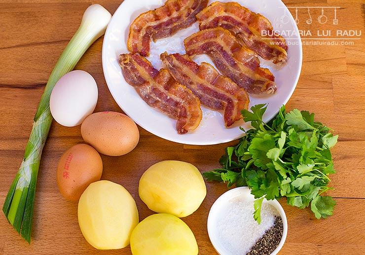 ongrediente frittata cu bacon